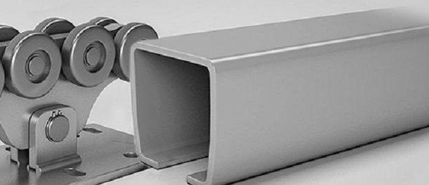 Ворота секционные промышленные автоматические алютех
